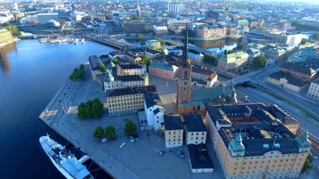 Flygfoto över Stockholm