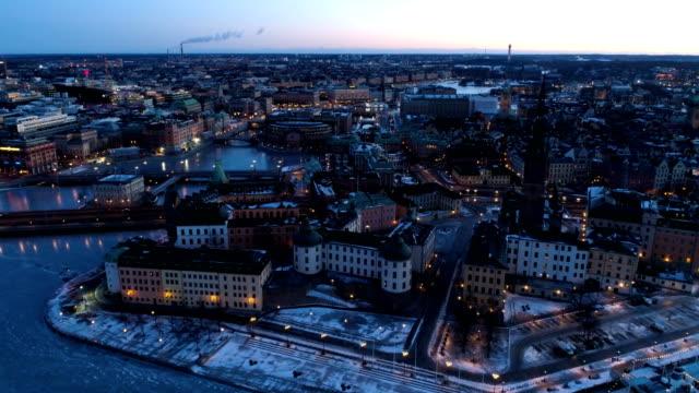 vídeos de stock, filmes e b-roll de vista aérea sobre stockholm - escandinávia