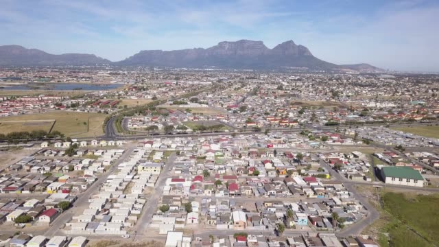 aerial view over the cape flats, cape town, south africa - cape stock videos & royalty-free footage
