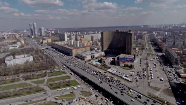aerial view over the city and buildings / russia, moscow - moscow russia stock videos & royalty-free footage