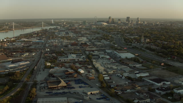 Aerial View Over The City Of St Louis