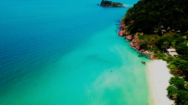 aerial view over the sea at the chang island (koh chang), trat, thailand - koh chang stock videos and b-roll footage