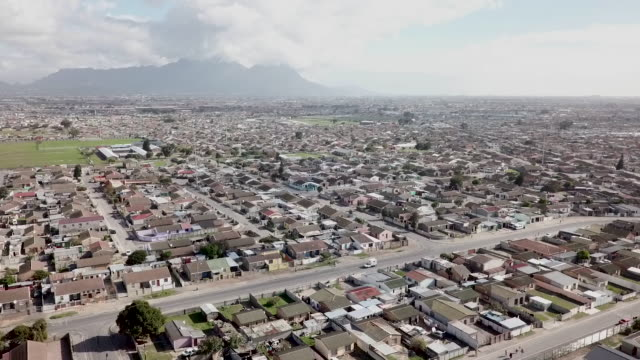 aerial view over township in south africa - apartheid stock videos & royalty-free footage