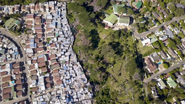 aerial view over township in south africa - slum stock videos & royalty-free footage
