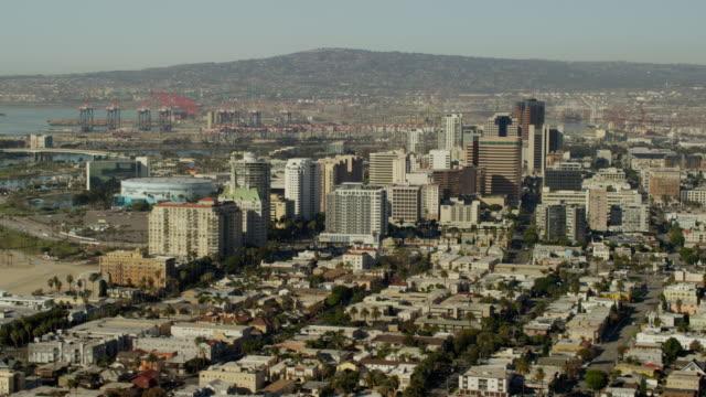 Aerial view Pacific Aquarium in Long Beach California