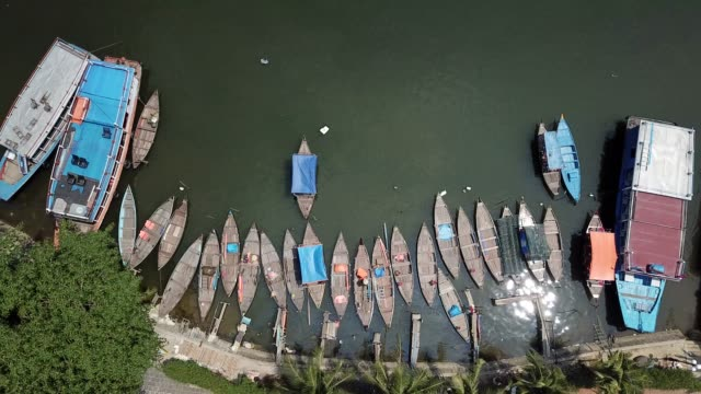 vidéos et rushes de aerial view panorama of hoi an old town or hoian ancient town - unesco