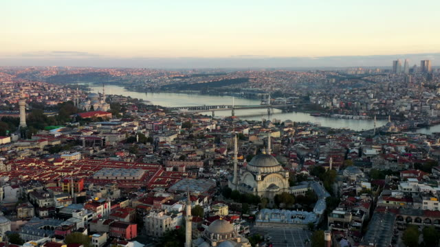 aerial view panoramic over istanbul city - istanbul province stock videos & royalty-free footage