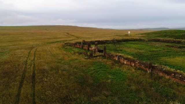aerial view. panoramic survey of the burial site. the shaman performs the ritual alone. - gold rush stock videos and b-roll footage