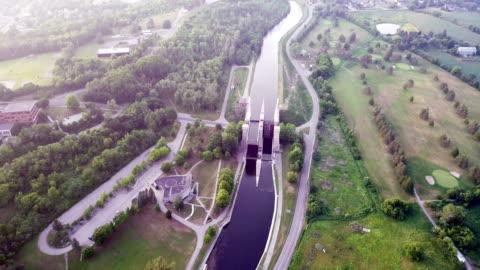 aerial view peterborough ontario,canada - ontario canada stock videos & royalty-free footage