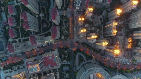 aerial view residential building - beijing stock videos & royalty-free footage
