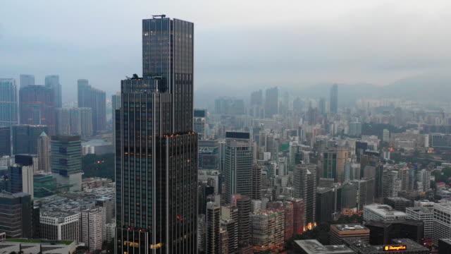 vídeos y material grabado en eventos de stock de vista aérea distrito central residencial en hong kong china - sección alta