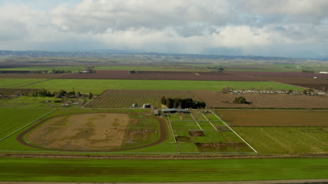 Aerial view rural farmland Glenn County Northern California