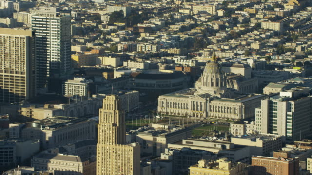 Aerial view San Francisco California USA City Hall