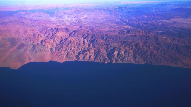 aerial view saudi arabia  gulf of aqaba - golfstaaten stock-videos und b-roll-filmmaterial