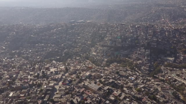 Aerial view, scenic Mexico City skyline