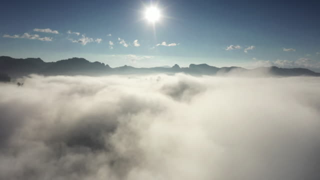 aerial view sea of cloud - above stock videos & royalty-free footage
