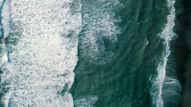 aerial view sea waves - water's edge stock videos & royalty-free footage