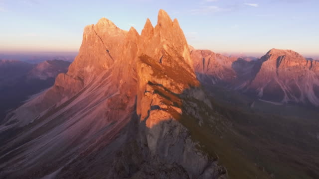 aerial view seceda mountain - north tirol stock videos & royalty-free footage