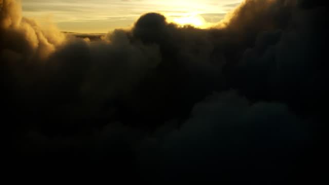 aerial view setting sun mauna loa freedom hawaii - mauna loa stock videos and b-roll footage