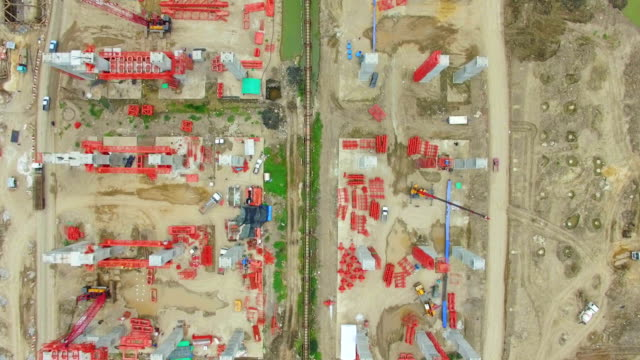 Aerial View shot of Construction Site