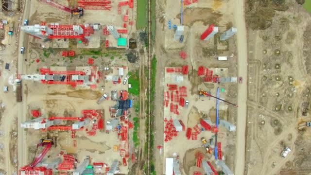 Aerial View of Construction Site Aufnahmen