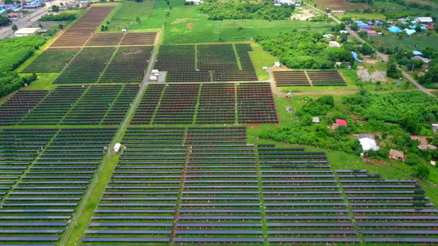 Aerial view shot of Solar Power Station Flyover