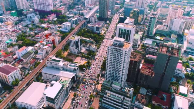Luftbild-Aufnahme der Stadt in Bangkok Thailand