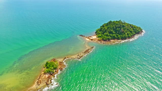 aerial view shot tropical beach sea with long tail boat in south thailand - thai ethnicity stock videos & royalty-free footage