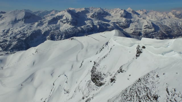 aerial view skiing region