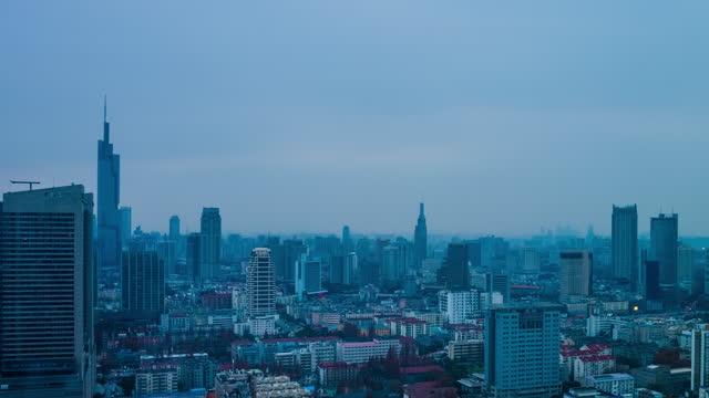 aerial view skyline of nanjing - beijing stock videos & royalty-free footage