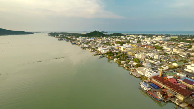 aerial view songkhla province thailand - songkhla province stock videos and b-roll footage