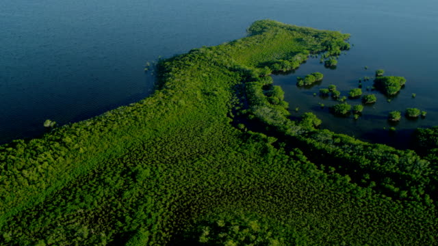 Aerial view Southern Florida National Park tropical island