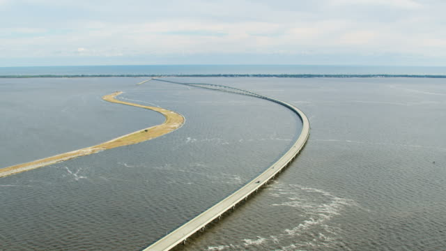 Aerial view St George Island Bryant Paton Bridge