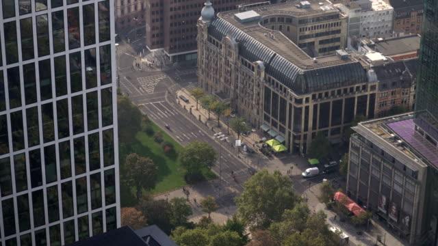 aerial view: street in frankfurt, germany - hesse germany stock videos and b-roll footage