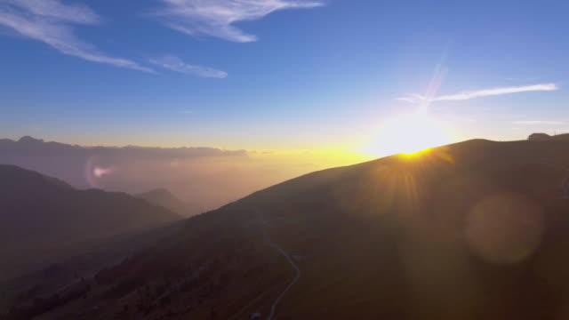 Aerial View :Sunshine through the hill
