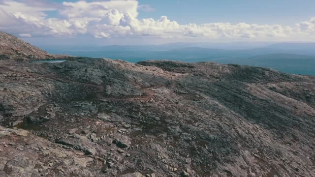 aerial view swedish mountains - arid climate stock videos & royalty-free footage