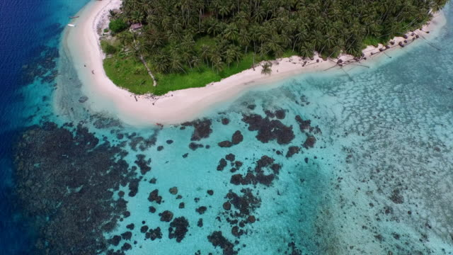 aerial view tailana at banyak island aceh singkil, sumatera indonesia. - pacific islands stock videos and b-roll footage