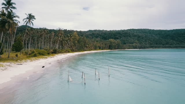 aerial view : the beautiful seascape at kood island in thailand. - trat province stock videos and b-roll footage
