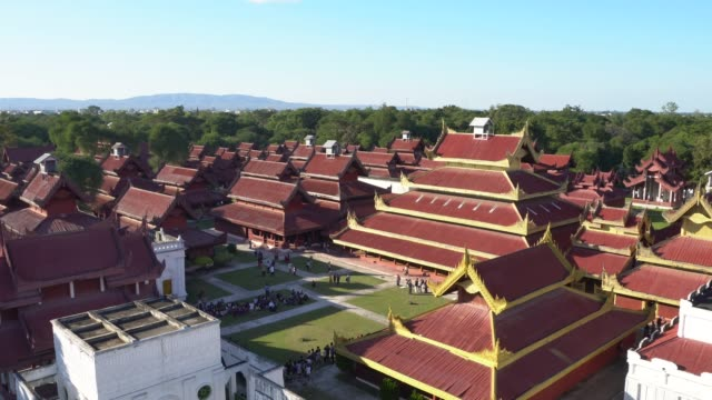 Luftaufnahme der Mandalay Royal Palace in Myanmar
