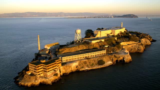 Aerial view The Rock Alcatraz Island San Francisco