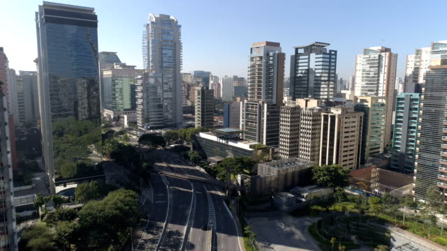 aerial view to sao paulo - avenue stock videos & royalty-free footage