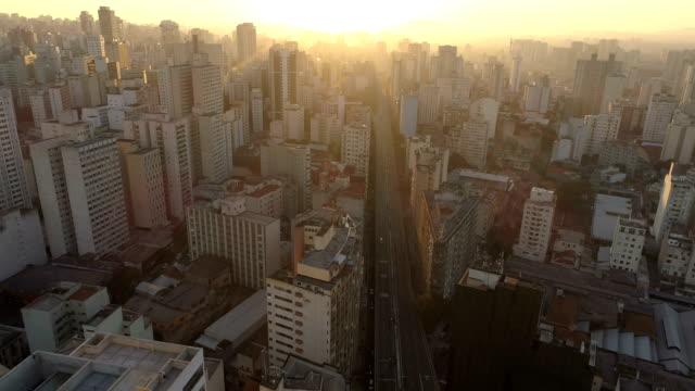 aerial view to sao paulo - são paulo stock videos and b-roll footage