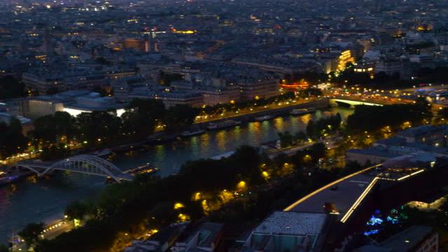 luftbild sena´s river in paris - île de france stock-videos und b-roll-filmmaterial