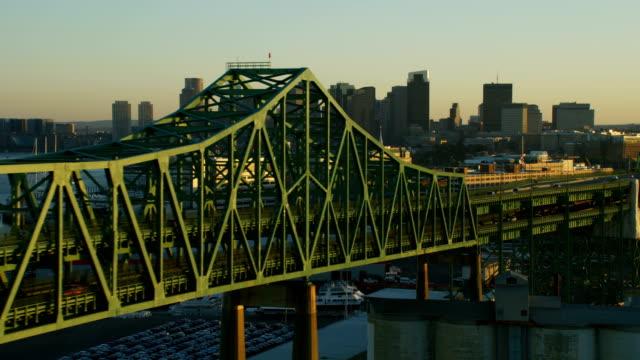aerial view tobin memorial vehicle bridge boston america - cantilever stock videos & royalty-free footage