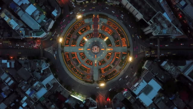aerial view traffic circle - circle pattern stock videos & royalty-free footage