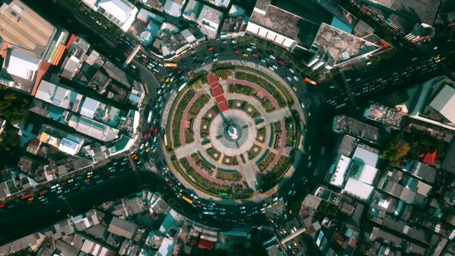 aerial view traffic circle - moving activity stock videos & royalty-free footage