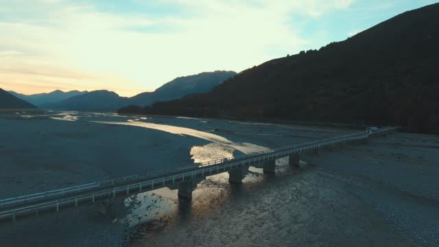 aerial view transportation on bridge - long stock videos & royalty-free footage