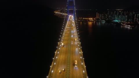 flygvy tsing ma brygga transport - hängbro bildbanksvideor och videomaterial från bakom kulisserna