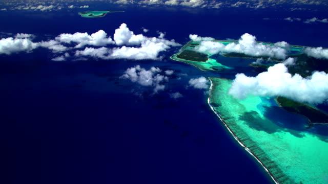 Aerial view Tupai and Bora Bora South Pacific