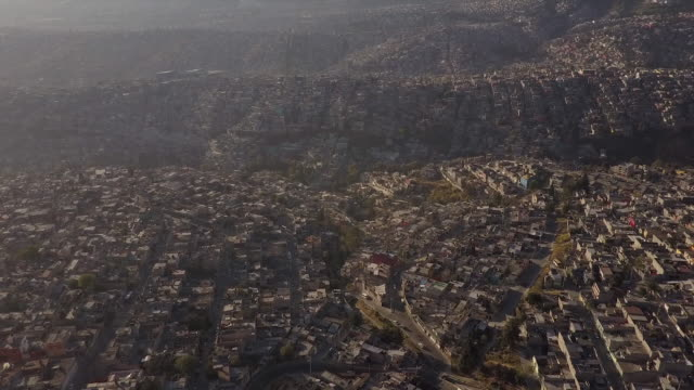 Aerial view, urban neighborhood in Mexico City